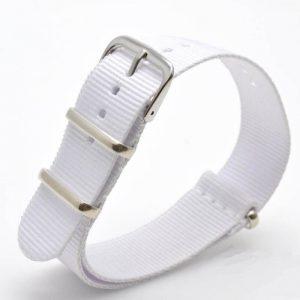 Bracelet Nato Blanc Montres 18mm 20mm 22mm 24mm