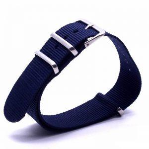Bracelet Nato Bleu Marine Montres 18mm 20mm 22mm 24mm