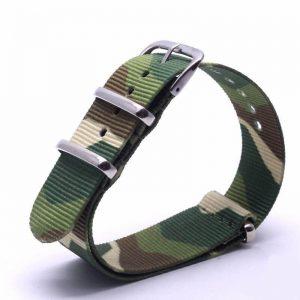 Bracelet Nato Camouflage Montres 18mm 20mm 22mm 24mm