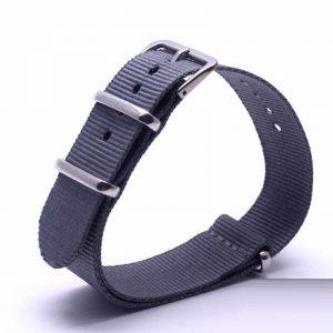 Bracelet Nato Gris Montres 18mm 20mm 22mm 24mm