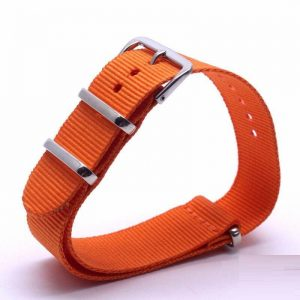 Bracelet Nato Orange Montres 18mm 20mm 22mm 24mm