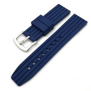 Bracelet Silicone Bleu Souple 20mm 22mm 24mm