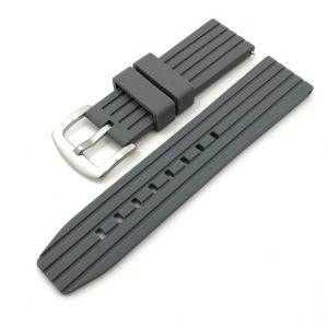 Bracelet Silicone Gris Souple 20mm 22mm 24mm