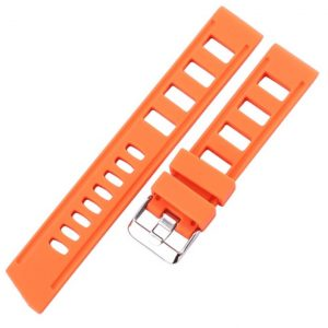 Bracelet Silicone Souple Iso 20mm 22mm Orange