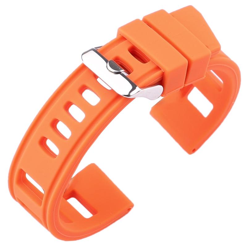 Bracelet Silicone Souple Iso 20mm 22mm Orange