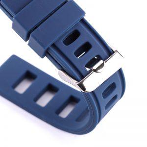 Bracelet Bleu Silicone Souple Iso 20mm 22mm