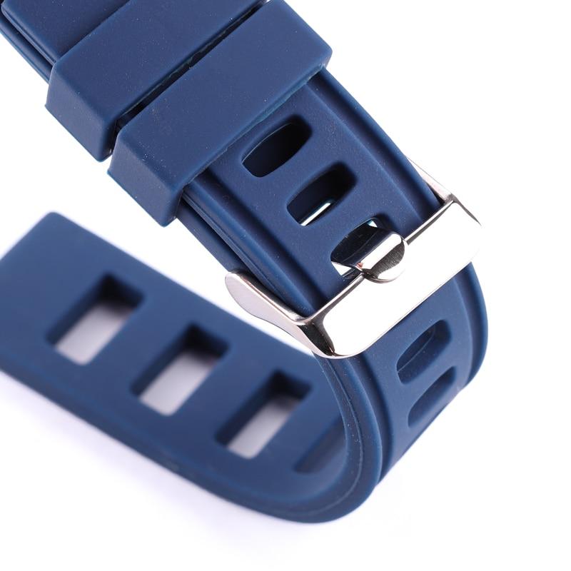 Détail bracelet Silicone Iso Bleu