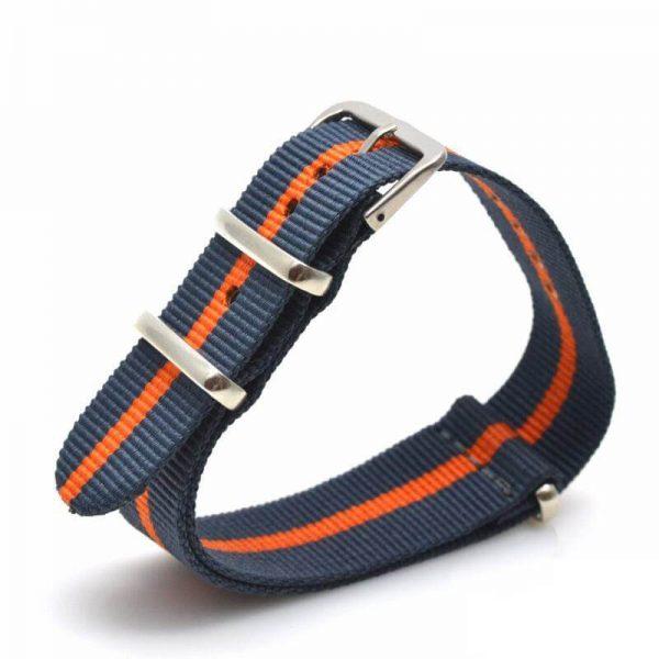 Nato Nylon Bleu Orange rayures