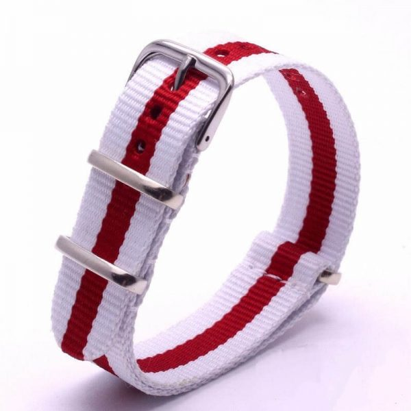 Nato Nylon Rouge Blanc rayures
