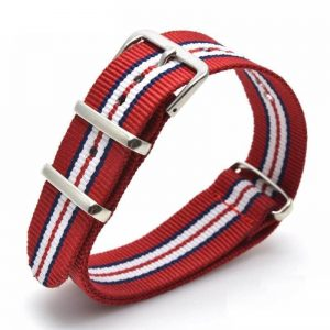 Nato Nylon Rouge Tricolor 18mm 20mm 22mm 24mm