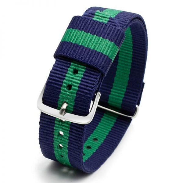 Bracelet Nylon pour Daniel Wellington Vert Bleu Vert 18mm 20mm