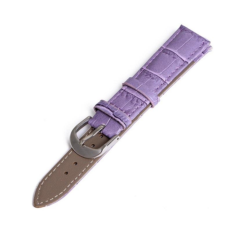 Bracelet pour Daniel Wellington Mauve Cuir 18mm 20mm