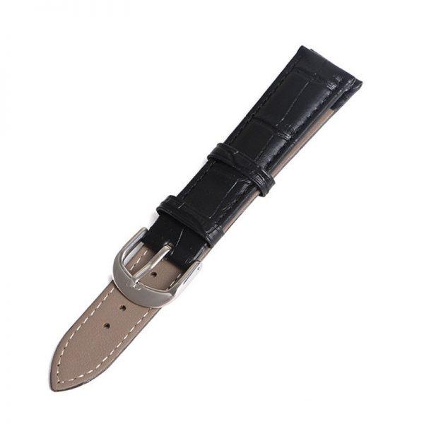 Bracelet pour Daniel Wellington Noir Cuir