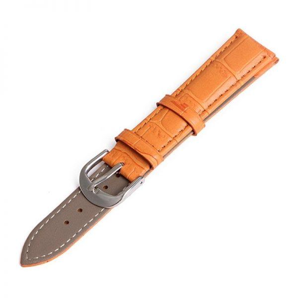 Bracelet pour Daniel Wellington Orange Cuir
