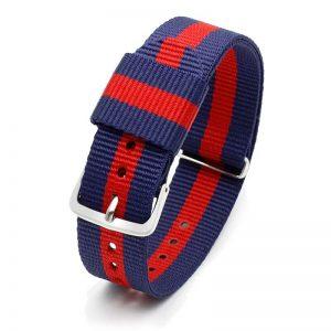 Bracelet pour Daniel Wellington nylon Rouge Bleu Rouge 18mm 20mm