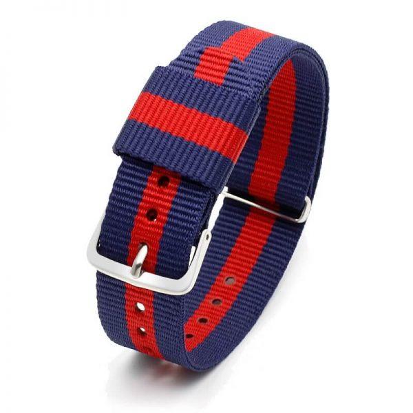 Bracelet pour Daniel Wellington nylon Rouge Bleu Rouge18mm 20mm