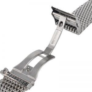 Bracelet Maille Milanaise en Acier Inoxydable 316L Premium Massif
