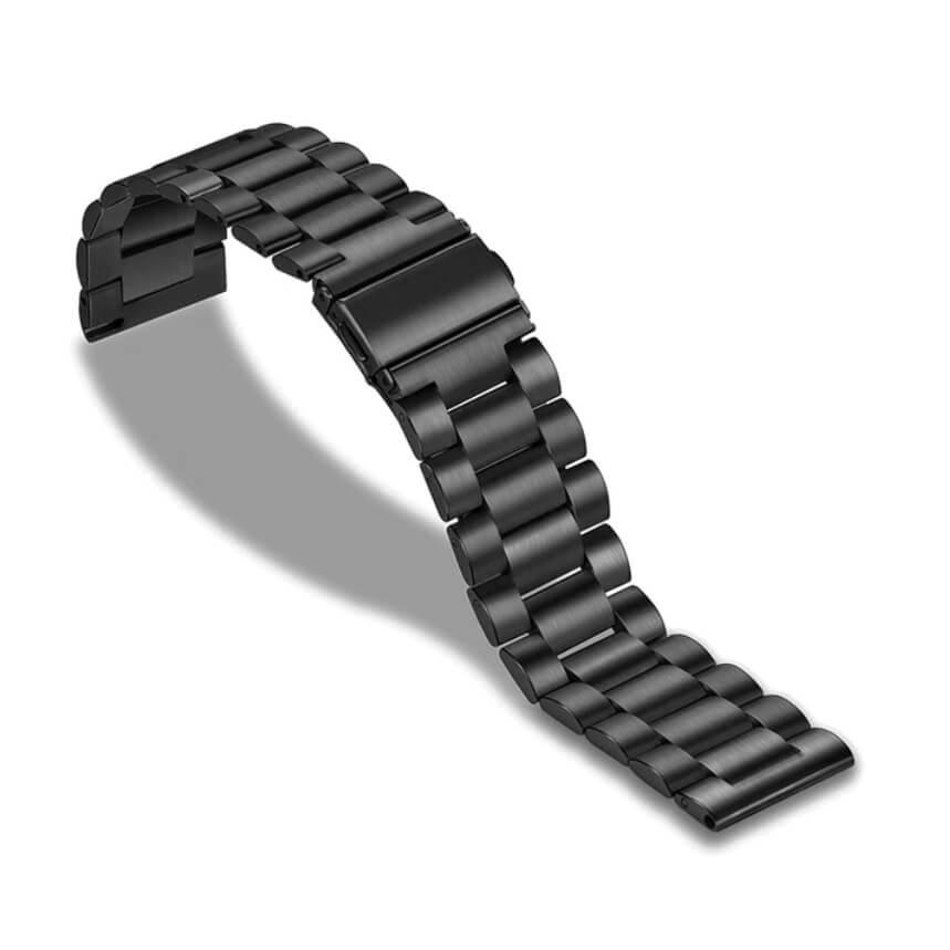 Bracelet Acier Inox Smart Noir 18mm 20mm 22mm 24mm