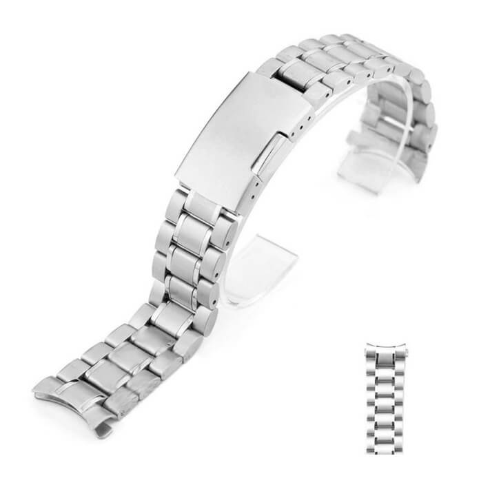 Bracelet Montre Acier Inox Arrondie Eco18mm 20mm 22mm 24mm