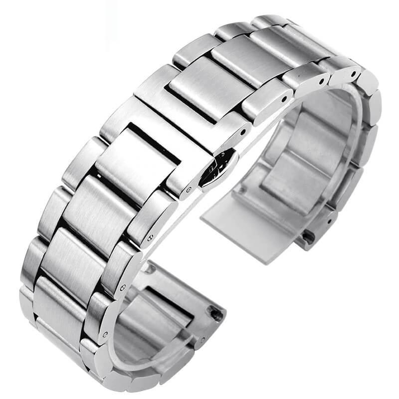Bracelet Montre Acier Inox Brosé 18mm 20mm 22mm 24mm