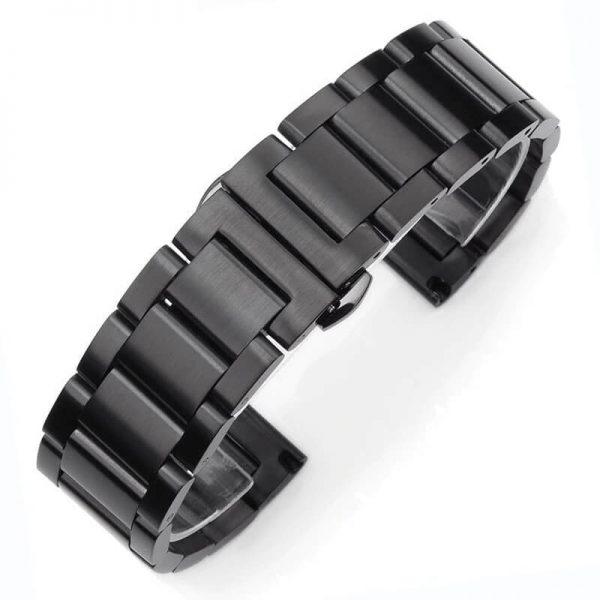 Bracelet Montre Acier Inox Noir Brossé