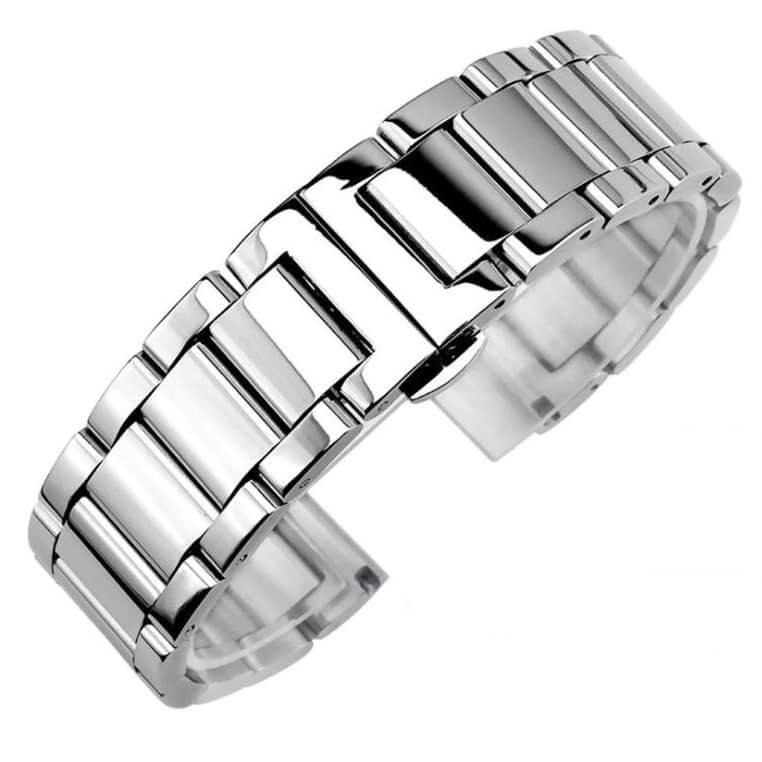 Bracelet Montre Acier Inox Poli 18mm 20mm 22mm 24mm