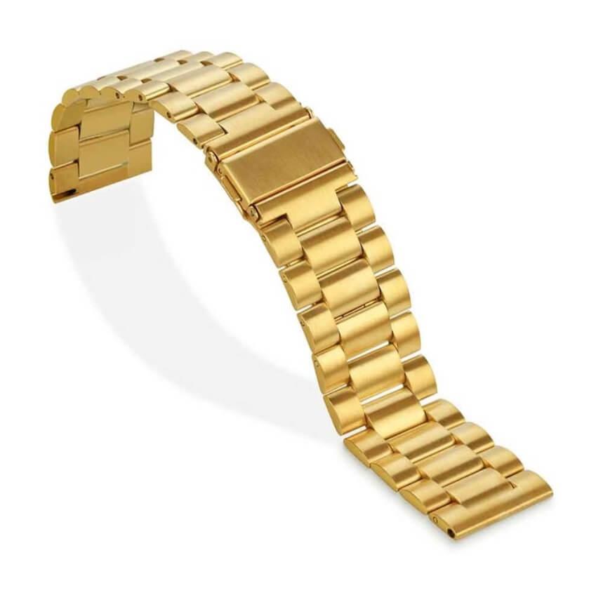Bracelet Plaqué Or Acier Inox Smart 18mm 20mm 22mm 24mm