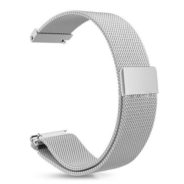 Bracelet Acier Inox Amazfit GTR 47mm Milanaise argent