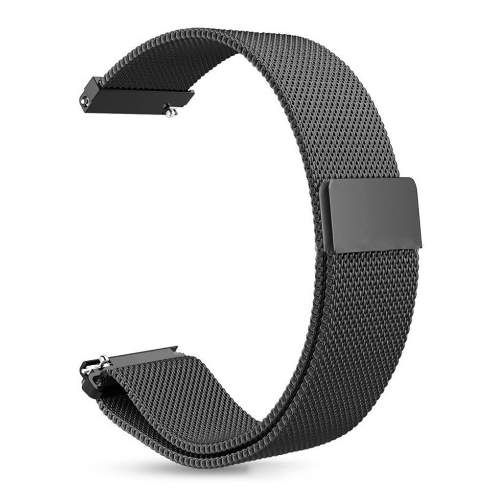Bracelet Acier Inox Amazfit GTR 47mm Milanaise noir