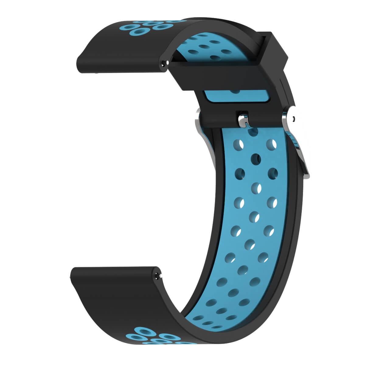 Bracelet Amazfit GTR 47mm Silicone Xtreme bleu et noir