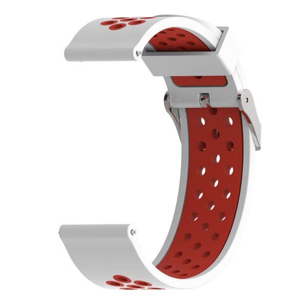 Bracelet Amazfit GTR 47mm Silicone Xtreme rouge et blanc
