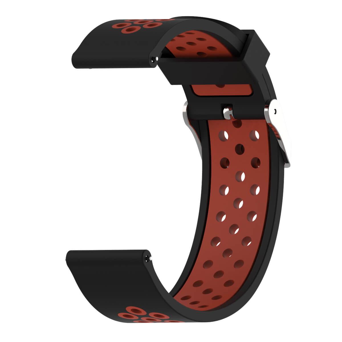 Bracelet Amazfit GTR 47mm Silicone Xtreme rouge et noir