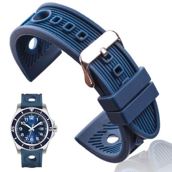 Bracelet montre Silicone Bleu BRE