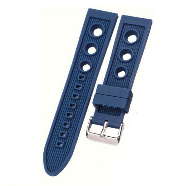 Bracelet montre Silicone Bleu BRE detail